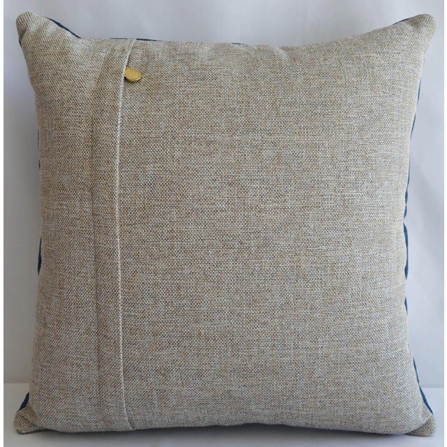 Traditional Hand Woven Silk Pillow Cover Turkish Sham With Free Insert - 16″ X 16″ For Sale - Image 3 of 6
