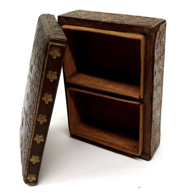 Mini Fleur-de-Lis Leather Box - Image 9 of 10