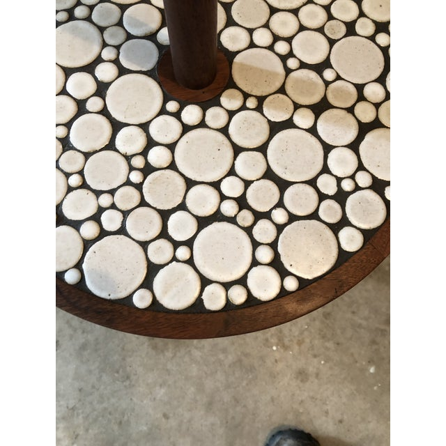 1970s 1970s Mid-Century Modern Martz Lamp Table Tile Nice For Sale - Image 5 of 9