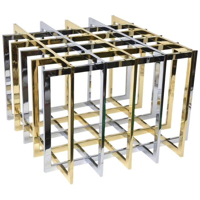 Pierre Cardin Sculptural Grid or Puzzle Side Table - Image 1 of 10