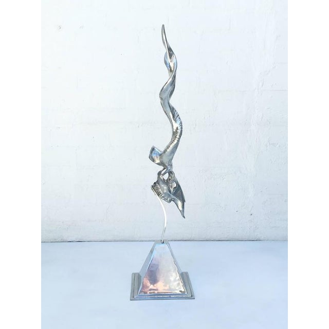 Polished Aluminum Sculpture by Arthur Court - Image 8 of 10