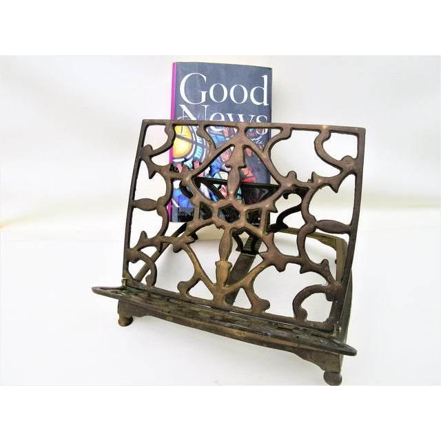 Adjustable Brass Easel Stand - Image 7 of 9