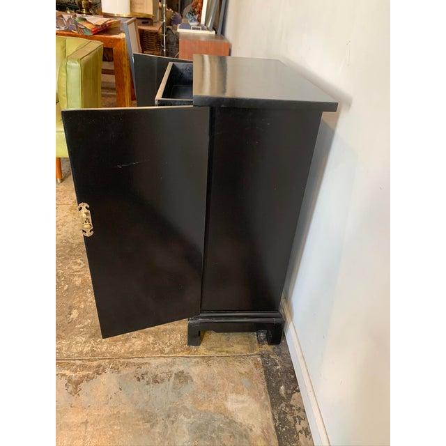 Mid 20th Century Vintage Black Hallway Cabinet For Sale - Image 5 of 7