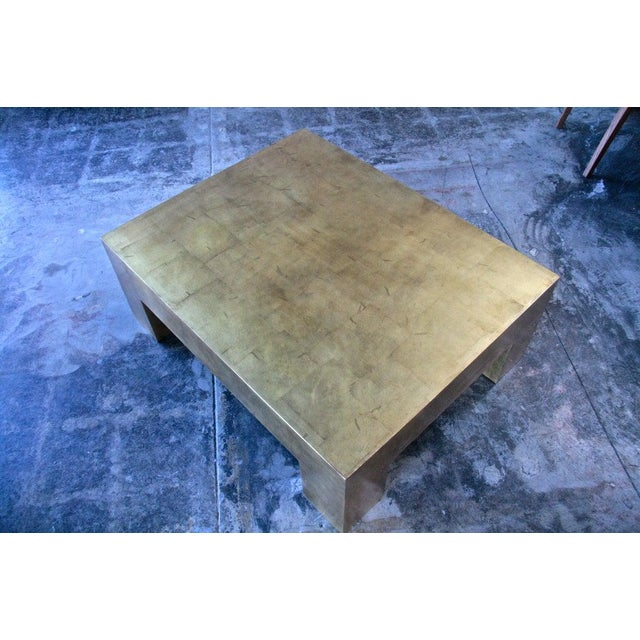 Italian Gold Leaf Coffee Table For Sale In Los Angeles - Image 6 of 7