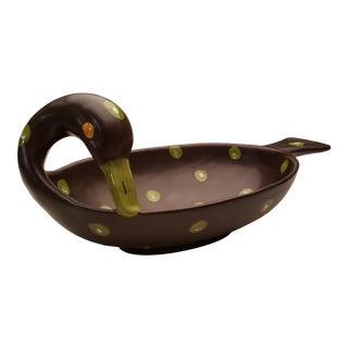 Mid Century Ceramic Bitossi Bird Dish Bowl For Sale