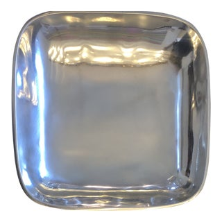 Vintage Square Contemporary Silver Bowl From Towle Silversmiths With Original Box For Sale