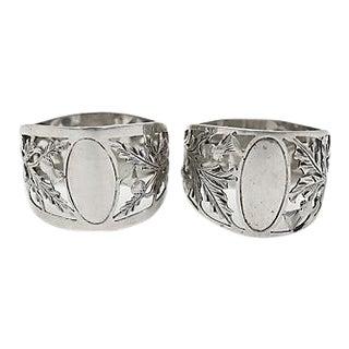 Walker & Hall Sterling Silver Napkin Rings - Pair