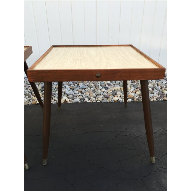 Mid-Century Stacking Side Tables - Pair - Image 5 of 6