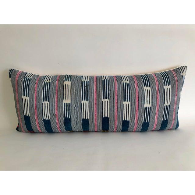 Vintage Baule Handwoven Textile Bolster For Sale In Los Angeles - Image 6 of 6