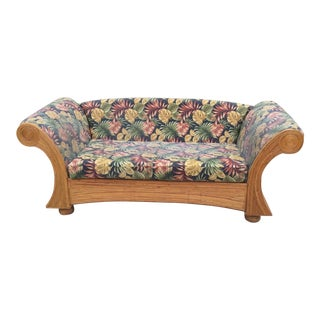 Gabriella Crespi Style Pencil Reed Swirl Sofa For Sale
