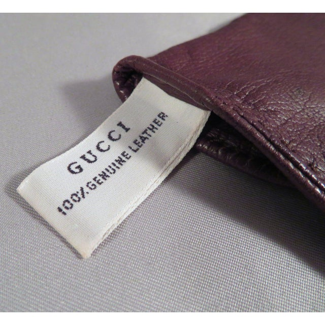 Vintage Gucci Leather and Gold Horse Bit Driving Gloves For Sale In San Antonio - Image 6 of 10