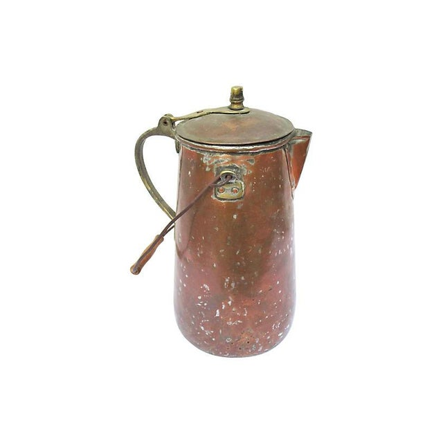 19th-C. French Copper Coffeepot For Sale In Los Angeles - Image 6 of 6
