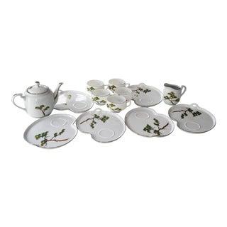 Vintage Koshida Porcelain Hand Painted Tea/Coffee Set - 14 Pieces For Sale