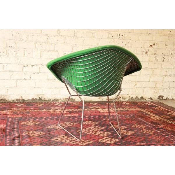 Green Diamond Chair by Harry Bertoia for Knoll For Sale In South Bend - Image 6 of 8