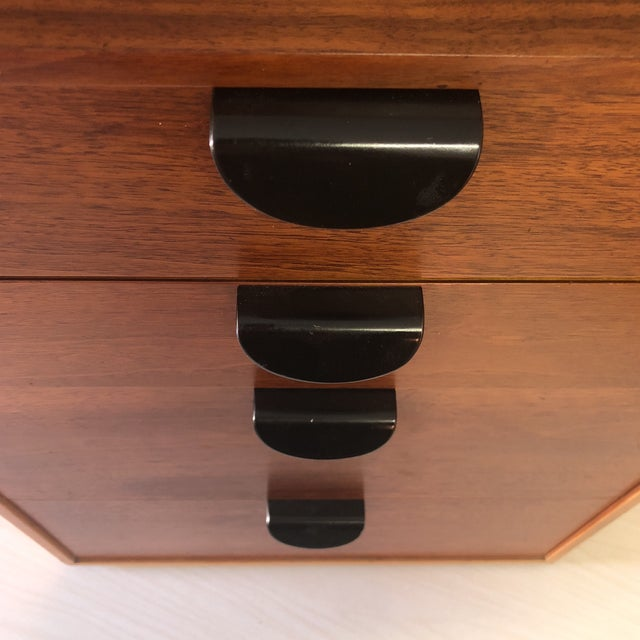 Finn Juhl for Baker Furniture Four Drawer Walnut Cabinet For Sale - Image 11 of 13