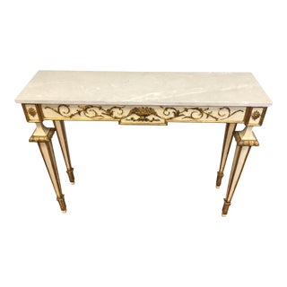 Italian Neoclassic Painted and Giltwood Console Table