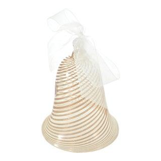 Murano Gold Spiral Aventurine Bell