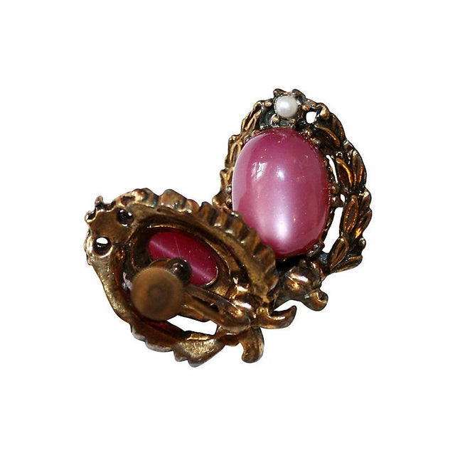 Fuchsia Thermoset Bracelet & Earrings For Sale In Los Angeles - Image 6 of 7