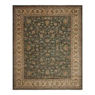 Istanbul Green & Tan Wool Rug - 12'2 X 15'0 For Sale