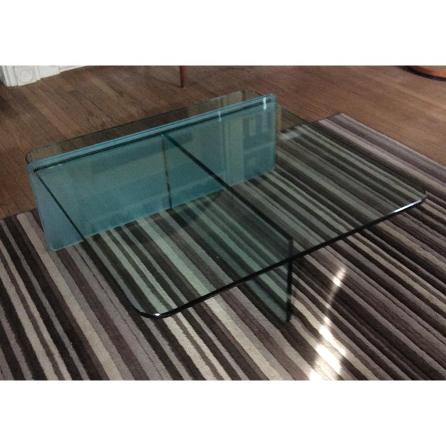 Contemporary 1980s Vintage Glass Coffee Table For Sale - Image 3 of 3