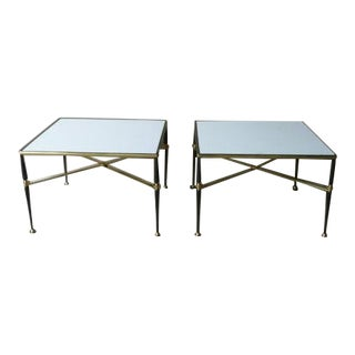 1960s French Maison Jansen Brass and Iron Tables - a Pair For Sale