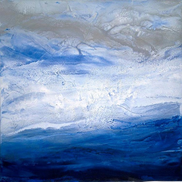 Teodora Guererra, 'Starry Seas 1' Painting, 2017 For Sale