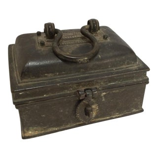 East Asian Bronze Lock Box For Sale