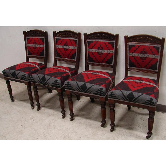 Ralph Lauren Fabric Dining Chairs - Set of 4 - Image 4 of 6