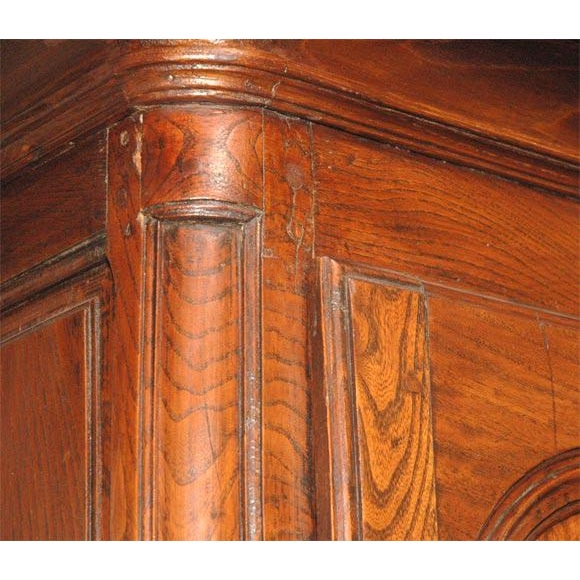 Antique Fruitwood Armoire For Sale - Image 5 of 7