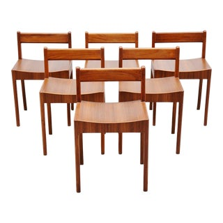 1960s Breakfast Chairs by Plyfa Denmark-Set of 6 For Sale