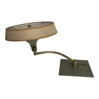 Mid Century Modern Brass Swivel Desk Lamp For Sale