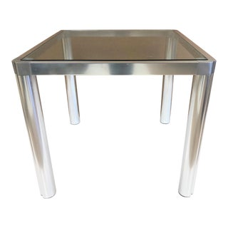 1960s Aluminum Dining Table For Sale