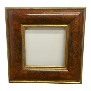 French Burl Walnut Frame With Gilt Trim For Sale