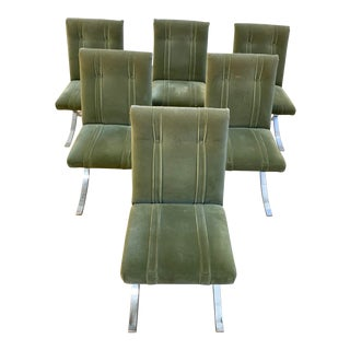 Mid 20th Century Ludwig Mies Van Der Rohe Barcelona Style Chairs - Set of 6 For Sale