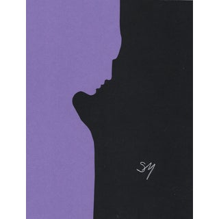 """Profile 3 - Purple"", Minimalist Collage by Sarah Myers For Sale"