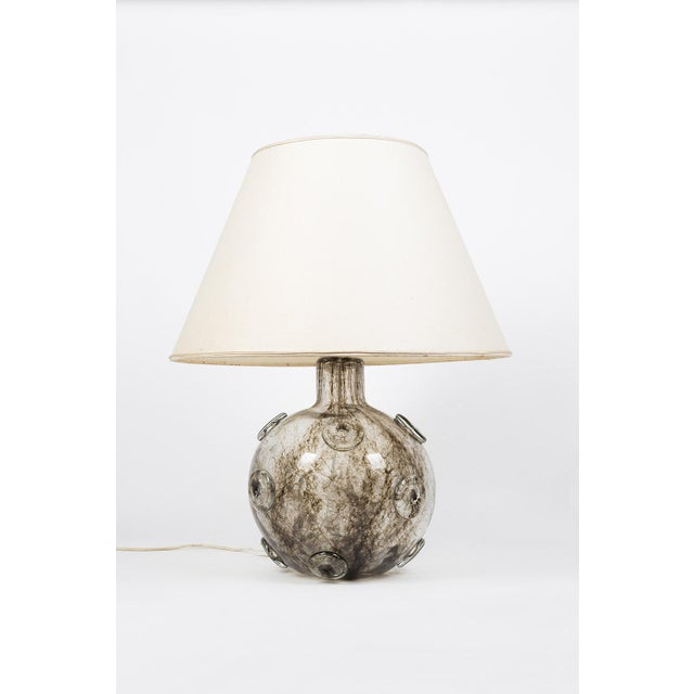 Mid 20th Century Barovier & Toso Glass Crepusculo Lamp For Sale - Image 5 of 13