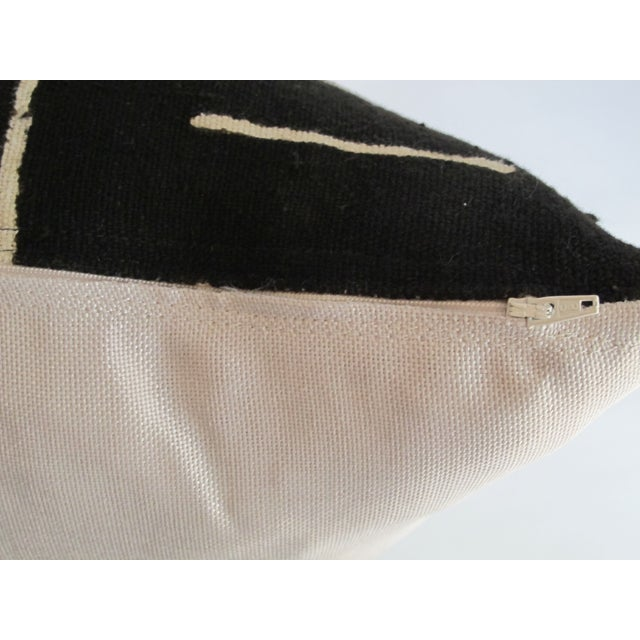 Black Kuba Cloth Pillows - A Pair - Image 6 of 8