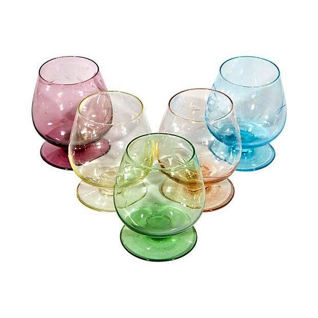 Multicolor Floral Etched Shot Glasses - Set of - Image 2 of 3