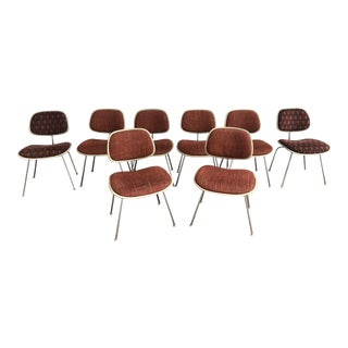 1970s Eames for Herman Miller DCM Chairs - Set of 8 For Sale