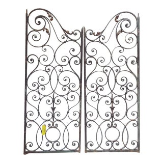 Late 19th Century French Wrought Iron Gates - a Pair For Sale