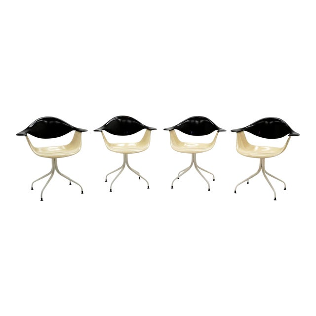 1950s Vintage George Nelson Swag Leg Model Daf Chairs- Set of 4 For Sale
