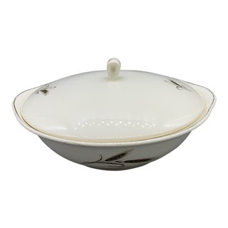 Vintage Salem China's Royal Joci Covered Round Vegetable Bowl For Sale