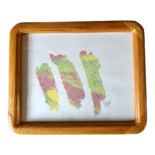 """Nancy Smith Contemporary Sand Painting """"Trio"""" For Sale"""
