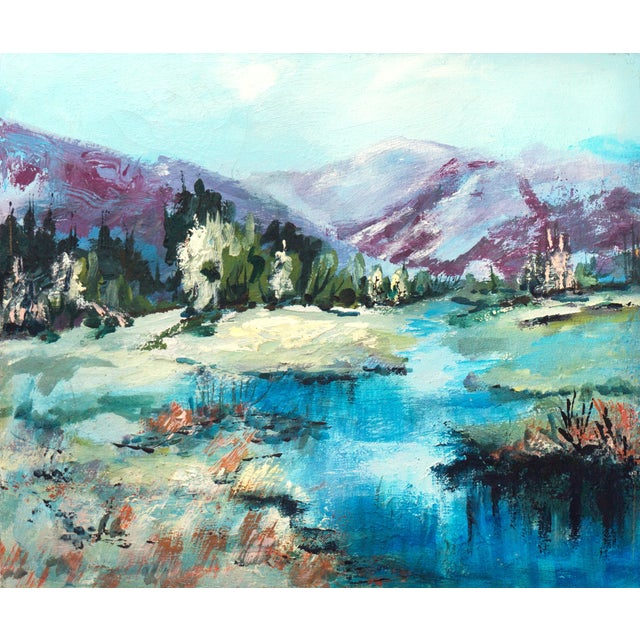1960's Mountain Stream Painting by Marion Miller - Image 1 of 6