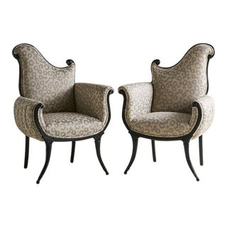 Pair of Grosfeld House Empire Style Chairs For Sale