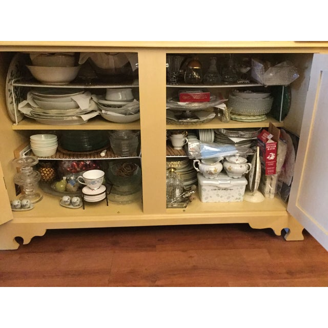 """Wood Vintage Farmhouse """"Breakfront', """"Open Hutch Sideboard' For Sale - Image 7 of 13"""