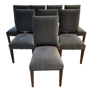 Gray Upholstered Dining Chairs - Set of 8