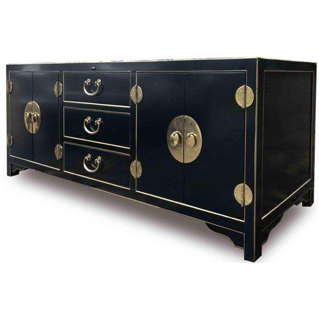 Gold Modern Sligh Pacific Isle Console For Sale - Image 8 of 12