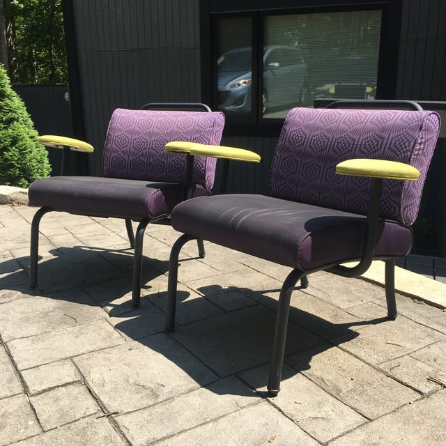 1980s 1980s 1990s Memphis Modern Style Club Chairs - a Pair For Sale - Image 5 of 13