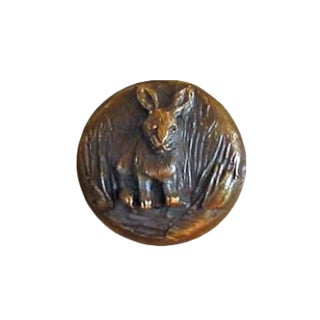 Rabbit Knob with Traditional Patina For Sale